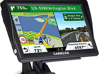 CARRVAS GPS Navigation for Car and Truck 7 Inch 2020 Version Americas Map   Voice Reported Highway Speed Camera   Poi lane Assist  Supported Post Code  Favorites   Address Search
