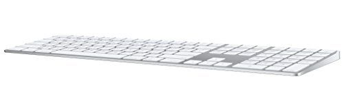 Apple Magic Keyboard with Numeric Keypad  Wireless  Rechargable   US English    Silver