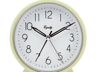 la Crosse Technology 244282 5 in  Pale Green Metal Tabletop Alarm Clock