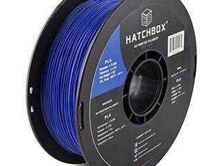 HATCHBOX PlA 3D Printer Filament  Dimensional Accuracy   0 03 mm  1 kg Spool  1 75 mm  Blue  Model Number  3D PlA 1KG1 75 BlU