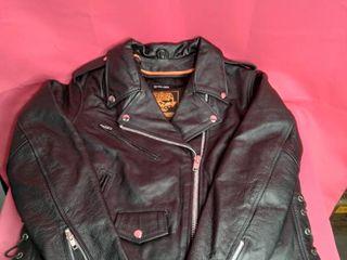 Milwaukee Women s Full length Motorcycle Jacket with Side lace  Black  large
