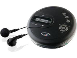GPX Portable CD Player  60 Sec  FM Radio with Anti Skip   Black  PC332B