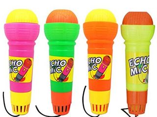 Toyvian 4pcs Echo Mic Magic Microphone Toy for Kids Toddler Graduations Holidays Birthday Parties Gifts  Mixed