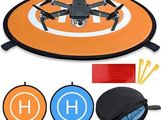 KINBON Drone landing Pads  Waterproof 30  Universal landing Pad Fast fold Double Sided Quadcopter landing Pads for RC Drones Helicopter DJI Spark Mavic Pro Phantom 2 3 4 Pro Inspire 2 1 3DR Solo
