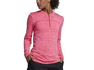 NIKE Zonal Cooling Dry Half Zip Seamless Golf Pullover 2018 Women Wolf Gray Black X Small