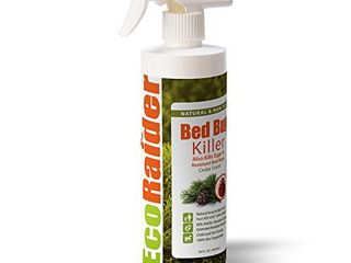 Bed Bug Killer by EcoRaider 16 oz  Fast and Sure Kill with Extended Residual Protection  Natural   Non Toxic  Child   Pet Friendly
