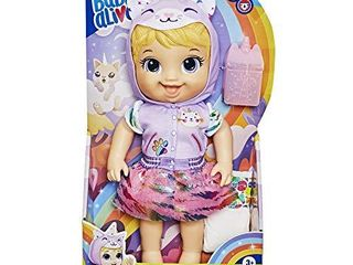 Baby Alive Tinycorns Doll  Unicorn  Accessories  Drinks  Wets  Blonde Hair Toy for Kids Ages 3 Years and Up