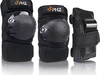 PHZ  Youth Knee Pads Elbow Pads Wrist Guards 3 in 1 Protective Gear Set for Skateboarding  Roller Skating Cycling Biking Snowboardinga