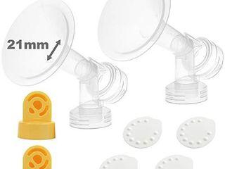 Nenesupply Pump Parts Compatible with Medela Breastpump Not Original Medela Pump Parts 21mm Small Breastshield Valve Use on Medela Pump in Style Medela Symphony Swing Replace Medela Breastshield