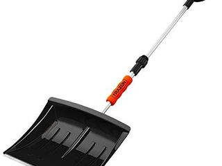 Snow Shovel for Driveway Car Home Garage   Portable Folding Snow Shovel with Retractable Ergonomical Handle and large Capacity for Snow Removal   Heavy Duty Metal Collapsible Shovel and Snow Removal