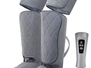 Oliver James leg Massager for Circulation and Relaxation with Heat   Foot  Calf and Thigh Massage Air Compression with Handheld Controller  5 Modes 4 Intensities  Relax and Relieve Muscle Pain