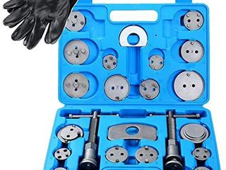 DASBET 24pcs Heavy Duty Disc Brake Caliper Tool Set and Wind Back Kit for Brake Pad ReplacementDASBET 24pcs Heavy Duty Disc Brake Caliper Tool Set and Wind Back Kit for Brake Pad Replacement