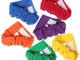 TOYSHARING 3 legged Race Bands Durable Three legged Race Bands Flexible Colorful 3 legged Races Soft 3 legged Race Ties for Kids Children People Outdoor Fun Game 6 Pack