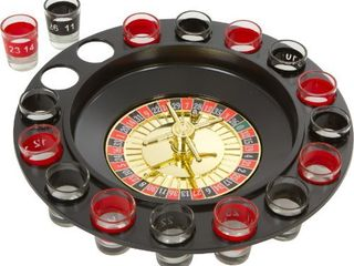 EZ DRINKER Shot Spinning Roulette Game Set  16 Piece