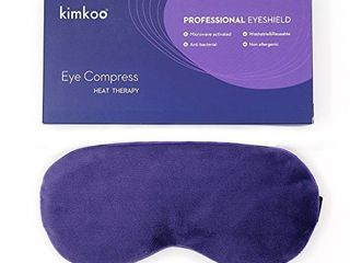 Kimkoo Moist Heat Eye Compress Microwave Hot Eye Mask for Dry Eyes Natural and Healthy Therapies Purple