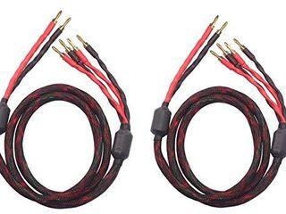 k4B 2B Bi Wire Speaker Cable  2 Banana Plugs   4 Banana Plugs  1pair Set  Total 12banana Plugs  k4B 2B  2 5M 8 2ft