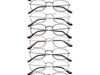 Suncrush 8 Pairs Round Metal Frame Reading Glasses Quality Fashion Men Women Unisex Classic Style Frames   1 50