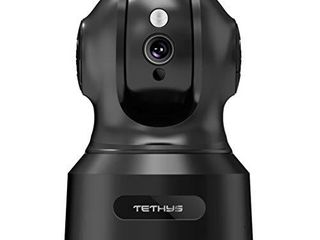 TETHYS Wireless Security Camera 1080P Indoor  Work with Alexa  Pan Tilt WiFi Smart IP Camera Dome Surveillance System w Night Vision Motion Detection 2 Way Audio Cloud for Home Business  Baby Monitor