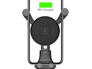 Wireless Car Charger  Auto Clamping Gravity Air Vent Car Phone Holder 10W Fast Charging Compatible with iPhone 11 11pro 11pro MAX Xs MAX XS XR X 8 8p  Samsung S10 S10 S9 S9 S8 S8   Black