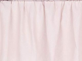 lambs   Ivy Floral Garden Pink linen Shirred Crib Skirt Dust Ruffle