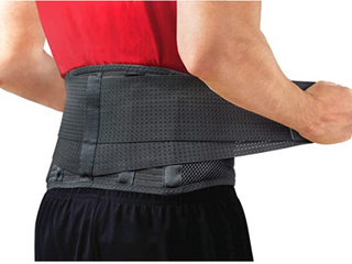 Back Support Belt by Sparthos   Relief for Back Pain  Herniated Disc  Sciatica  Scoliosis and more  Breathable Mesh Design with lumbar Pad Adjustable Support Straps lower Back Brace  Size Small