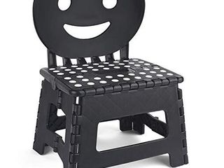 ACSTEP Folding Step Stool with Smile Back Support for Kids 9 inch Perfect Height for Toddler Toilet Training Mommy Helper