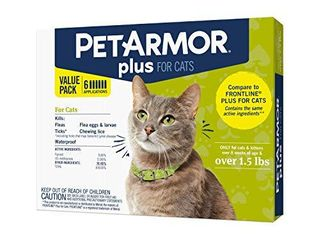 PetArmor Plus for Cats  Flea   Tick Prevention for Cats  Over 1 5 lb  Includes 6 Month Supply of Topical Flea Treatments  white  6 count