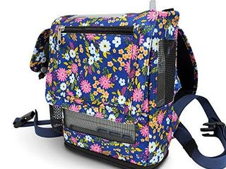 O2TOTES lightweight Carrier for Inogen One G5 Oxygen Concentrator  Portable Oxygen Backpack with Adjustable Straps   Zippered Pockets  Floral