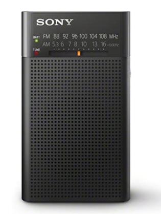 Sony Handy Portable Radio Fm   Am   Wide Vertical Type Black Icf   P26