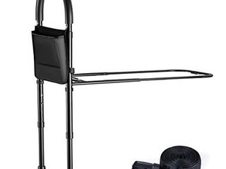 Bed Assist Rail with Adjustable Heights   Bed Assist bar with Storage Pocket   Bed Rails for Seniors with Hand Assistant bar   Easy to get in or Out of Bed Safely with Floor Support   by Medical king