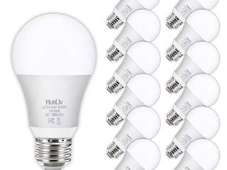 12Pack A19 lED light Bulbs 100 Watt Equivalent 5000K Daylight White  No Flicker E26 Medium Screw Base Bulbs  1100lumens  Non Dimmable