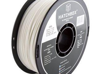 HATCHBOX 3D ABS 1KG1 75 WHT ABS 3D Printer Filament  Dimensional Accuracy   0 05 mm  1 kg Spool  1 75 mm  White