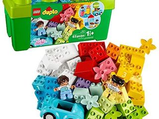 lEGO DUPlO Classic Brick Box 10913 First lEGO Set with Storage Box  Great Educational Toy for Toddlers 18 Months and up  New 2020  65 Pieces