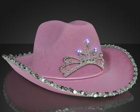 PINK DIAMOND COWGIRl HAT  lIGHT UP  3