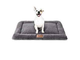 love s cabin Self Warming Dog Crate Pad Grey   30 Dog Beds for Small Dogs and Cats Pets Washable Dog Crate Mat   Dog Kennel Pad