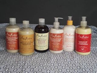 Shea Moisture Shampoo and Conditioner  lot of 6 items