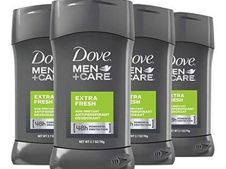 Dove Men Care Antiperspirant Deodorant 48 Hour Wetness Protection Extra Fresh Non Irritant Deodorant for Men 2 7 oz 4 Count  Package may vary