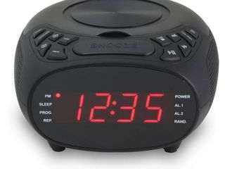 GPX CD Clock FM Radio  1 2  Display  Dual Alarm
