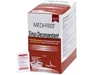 Medi First Sinus Decongestant  Nasal Decongestion Pills   1 Box of 500 Tablets