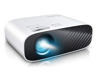 ElEPHAS 2020 Mini Movie Projector  5000 Full HD 1080P Video Projector  with 50  000 Hours lED lamp life and 200  Display  Compatible with USB HDMI VGA laptop iPhone TV Stick TF Card