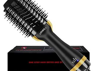 Hair Dryer Brush  One Step Hot Air Brush And Volumizer  Fast Drying Hair Dryer and Styler with Negative Ion for Reducing Frizz and Static  2020 Upgraded