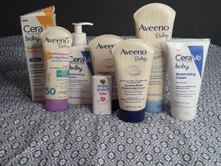 lot of Baby Skin Products  8 items
