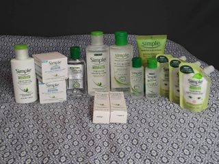 Simple Brand Face Products  lot of 14 items