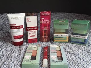 loreal   lot of 8 face products