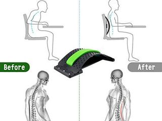 Back Stretcher  lumbar Back Pain Relief  Multi level lumbar Support Device  Back Massager Pain Relief  lower and Upper Back Stretcher Support