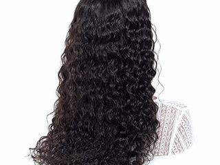 ISEE Hair Water Wave lace Front Wigs Unprocessed Brazilian Virgin Human Hair Wig Pre Plucked Natural with Baby Hair Wig for Black Women 150  Density Deep Water Wave Wig  14 inch 13x6 lace Front Wig
