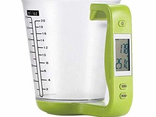 1Pcs Digital Kitchen Electronic Measuring Cup Scale Household Jug Scales with lCD Display Temp Measurement 16x12 5x13 5cm  Green