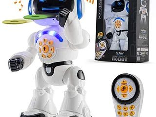 Top Race Remote Control Robot Toy Walking Talking Dancing Toy Robots for Kids  Sings  Reads Stories  Math Quiz  Shoots Discs  Voice Mimicking  Educational Toys for 3 4 5 6 7 8 9 Year Old Boys and up