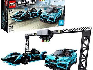 lEGO Speed Champions Formula E Panasonic Jaguar Racing Gen2 car and Jaguar I PACE eTROPHY 76898 Building Kit  New 2020  565 Pieces