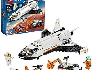lEGO City Space Mars Research Shuttle 60226 Space Shuttle Toy Building Kit with Mars Rover and Astronaut Minifigures  Top STEM Toy for Boys and Girls  273 Pieces